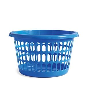 blue laundry basket